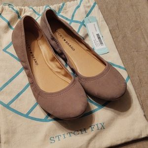 Lucky brand Emmie leather ballet flat size 8